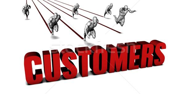 Mais clientes equipe de negócios corrida negócio homens Foto stock © kentoh