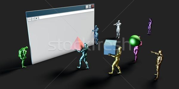 Internet ticaret elektronik tarayıcı gelişme sanat Stok fotoğraf © kentoh