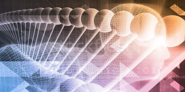 Orvostudomány tudományos orvosi test háttér sportok Stock fotó © kentoh