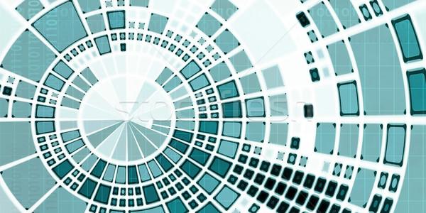 Médico analítica análise dados trabalhar tecnologia Foto stock © kentoh