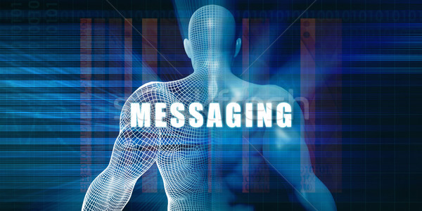 Messaging futuristische abstract technologie Stockfoto © kentoh