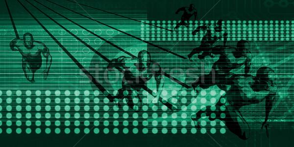 Następny pokolenie technologii wyścigu Internetu usługi Zdjęcia stock © kentoh