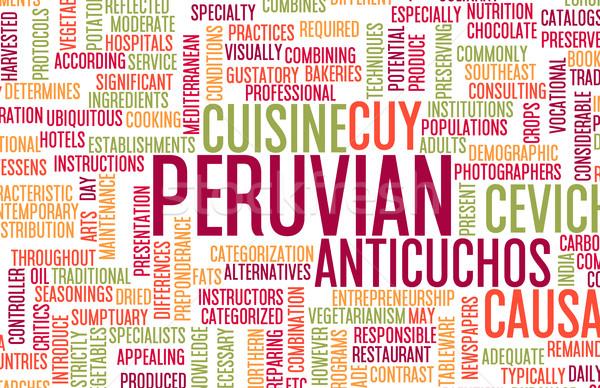 Peruvian Food Menu Stock photo © kentoh