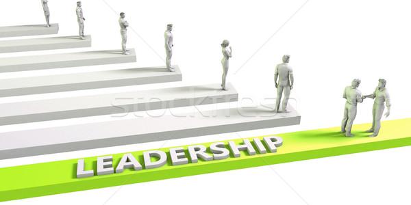 Führung Denkweise erfolgreich Business Mann Geschäftsmann Stock foto © kentoh