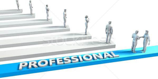 Profi képesség jó alkalmazott üzlet üzletember Stock fotó © kentoh