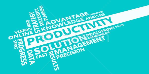 Produktivitás bemutató kék fehér háttér felhő Stock fotó © kentoh