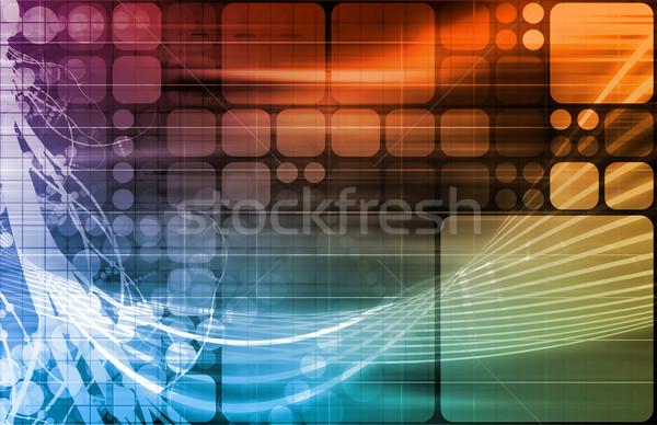 Wetenschap technologie gegevens abstract kunst business Stockfoto © kentoh