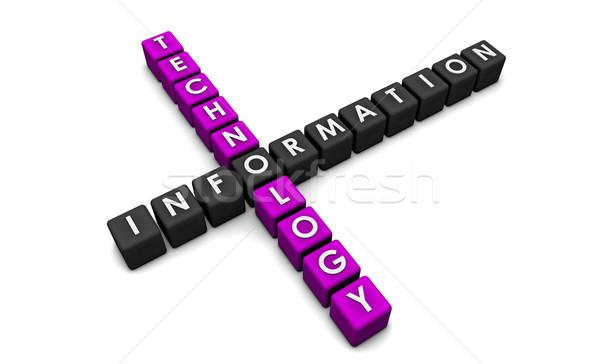 Tecnologia da informação 3D blocos fundo rede corporativo Foto stock © kentoh