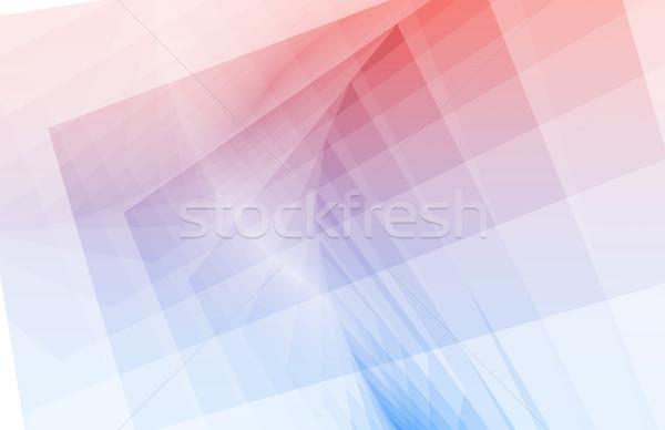 Fractals meetkundig abstract vierkante achtergronden mooie Stockfoto © kentoh