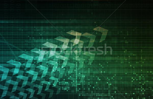 üzleti stratégia globális vállalati cég pénzügy szoftver Stock fotó © kentoh