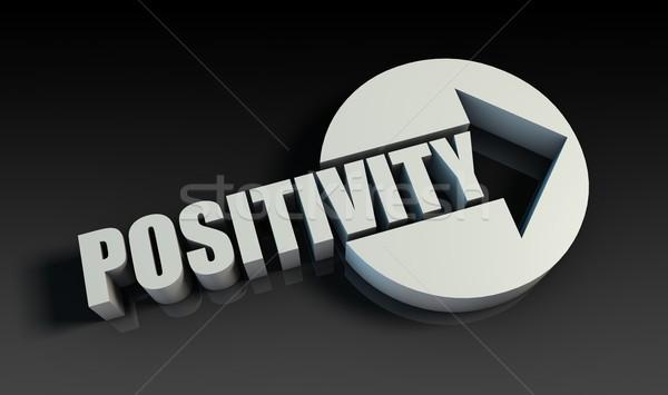 Positividad flecha negocios clave pensando tabla Foto stock © kentoh