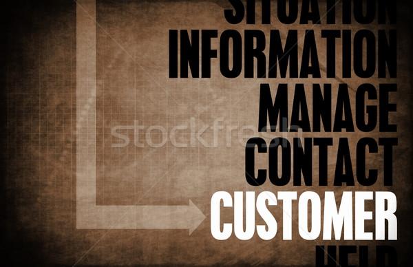Müşteri çekirdek ilkeler iş Retro dijital Stok fotoğraf © kentoh