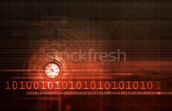 Wetenschappelijk onderzoek industrie kunst nieuws tabel Stockfoto © kentoh