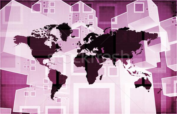 глобальный импортный экспорт бизнеса презентация искусства Сток-фото © kentoh
