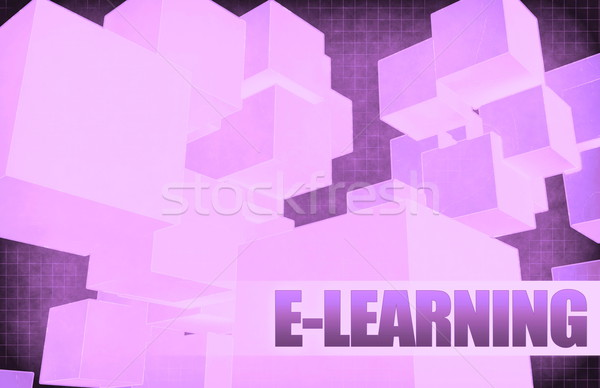 E-learning on Futuristic Abstract Stock photo © kentoh