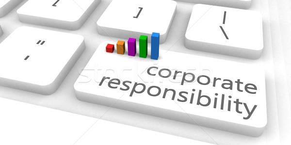 Empresarial responsabilidad rápido fácil sitio web negocios Foto stock © kentoh