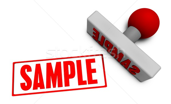Sample Stamp Stock photo © kentoh