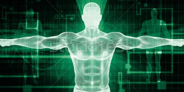 Elektronikus gyógyszer medicate technológia számítógép szív Stock fotó © kentoh