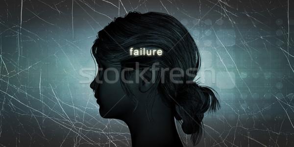 Frau Ausfall persönlichen herausfordern blau Stock foto © kentoh
