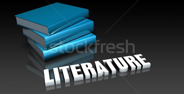 Letteratura classe scuola istruzione web classe Foto d'archivio © kentoh