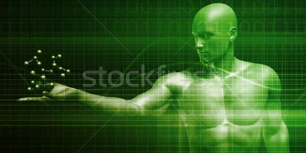Atom DNS részecske absztrakt terv háttér Stock fotó © kentoh