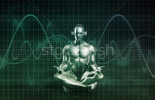 Technológia zene hang tapasztalat absztrakt energia Stock fotó © kentoh