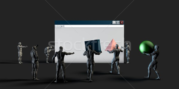 Web browser gegevens graphics internet menigte Stockfoto © kentoh