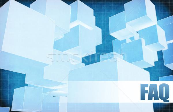 Faq futuriste résumé présentation slide design Photo stock © kentoh