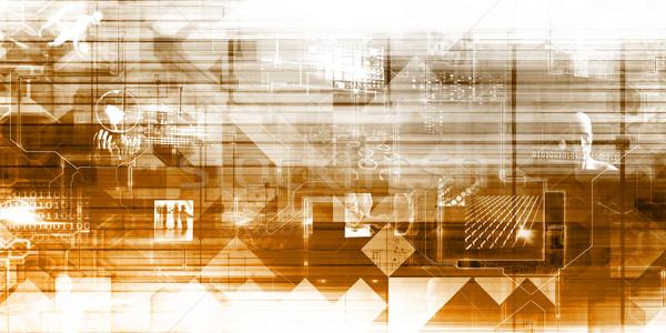Seguridad Internet seguridad antivirus escanear tecnología Foto stock © kentoh