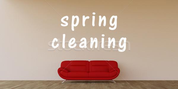 Pulizie di primavera home interni arte primavera industria Foto d'archivio © kentoh