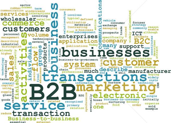 B2b działalności komputera projektu technologii tle Zdjęcia stock © kentoh