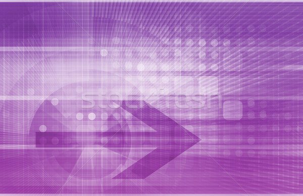 Digitale economie abstract business technologie achtergrond Stockfoto © kentoh