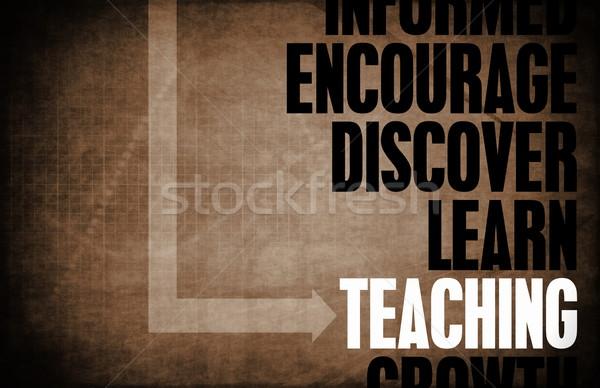 Ensino chave conceitos educação professor textura Foto stock © kentoh