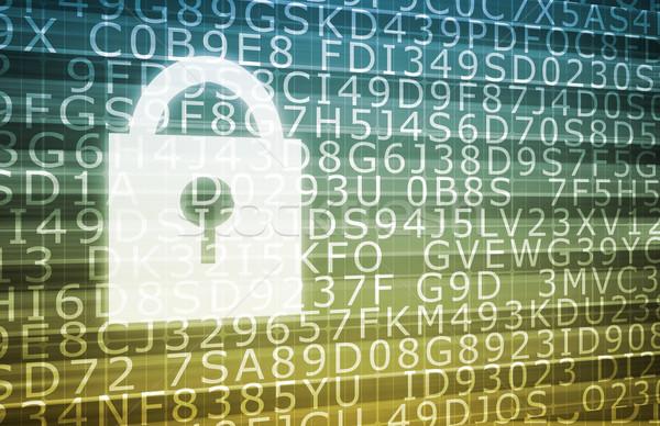 Photo stock: Sécurité · base · de · données · ordinateur · internet · fond · sécurité