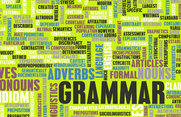 грамматика обучения лучше английский искусства Дать Сток-фото © kentoh