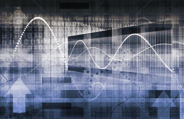 Foto stock: Tecnología · marco · red · grande · datos · seguridad