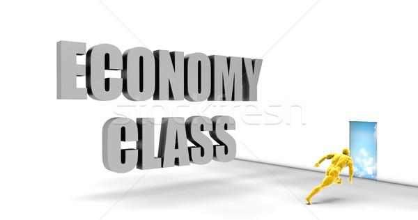 Gospodarki klasy szybko utwór kierować pośpieszny Zdjęcia stock © kentoh