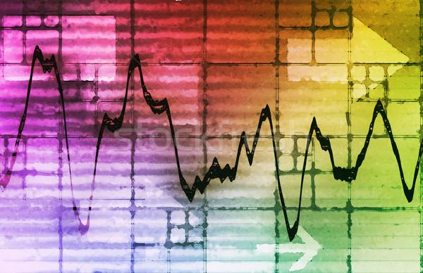 Dados analítica gestão grande negócio rede Foto stock © kentoh