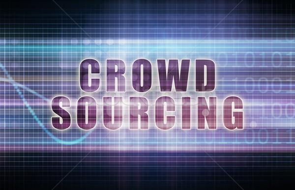 Crowdsourcing teknoloji iş grafik sanat soyut Stok fotoğraf © kentoh
