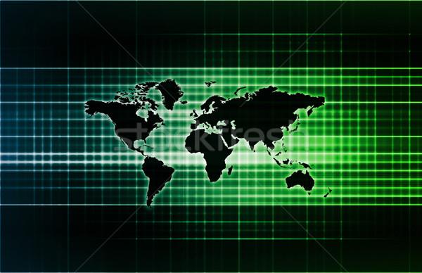 世界的な サポート ネットワーク コンピュータ 世界中 ストックフォト © kentoh