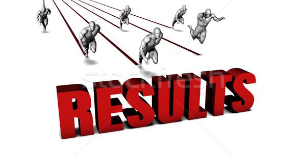 Jobb eredmények üzleti csapat versenyzés üzlet férfiak Stock fotó © kentoh