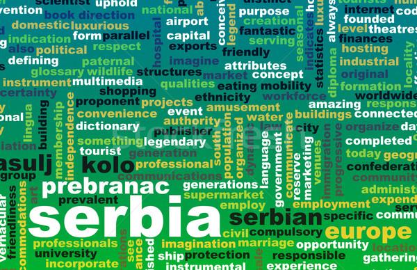 Sırbistan ülke soyut sanat iş gıda Stok fotoğraf © kentoh