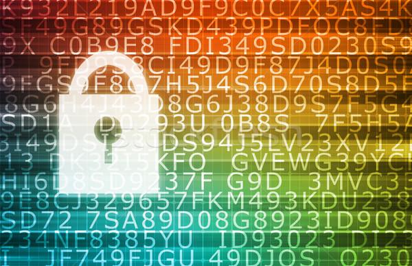 Bezpieczeństwa technologii online cyfrowe prywatność szyfrowanie Zdjęcia stock © kentoh