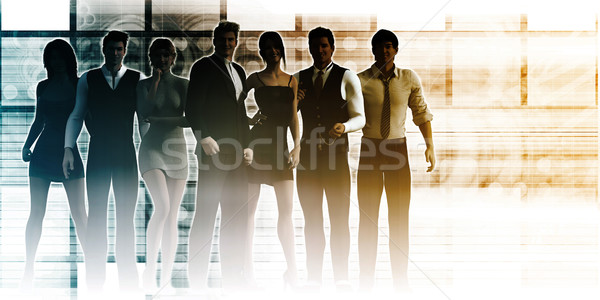 Group of Executives Standing Together Stock photo © kentoh