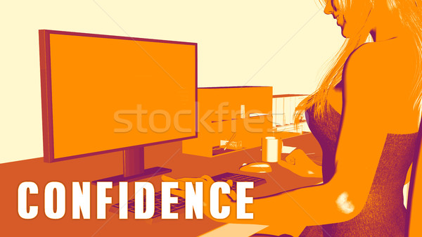 Confidence Concept Course Stock photo © kentoh