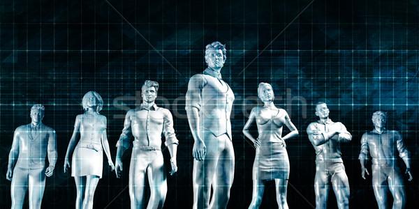 Talent beheer carriere leiderschap business vergadering Stockfoto © kentoh