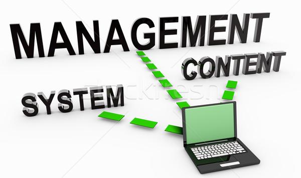 Içerik yönetim belge 3D ağ web Stok fotoğraf © kentoh