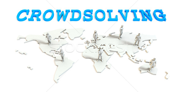 Crowdsolving Global Business Stock photo © kentoh