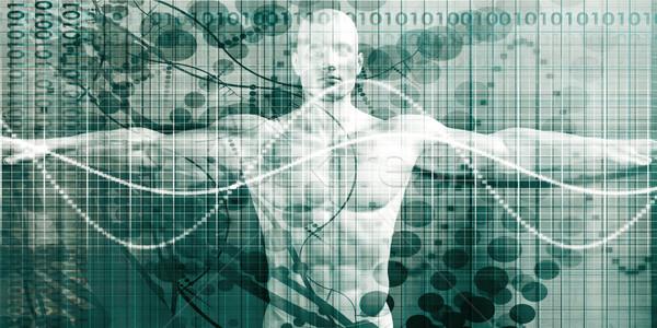 Wetenschap technologie menselijke lichaam anatomie onderzoek Stockfoto © kentoh