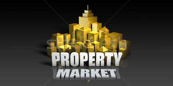 собственности рынке промышленности бизнеса зданий фон Сток-фото © kentoh